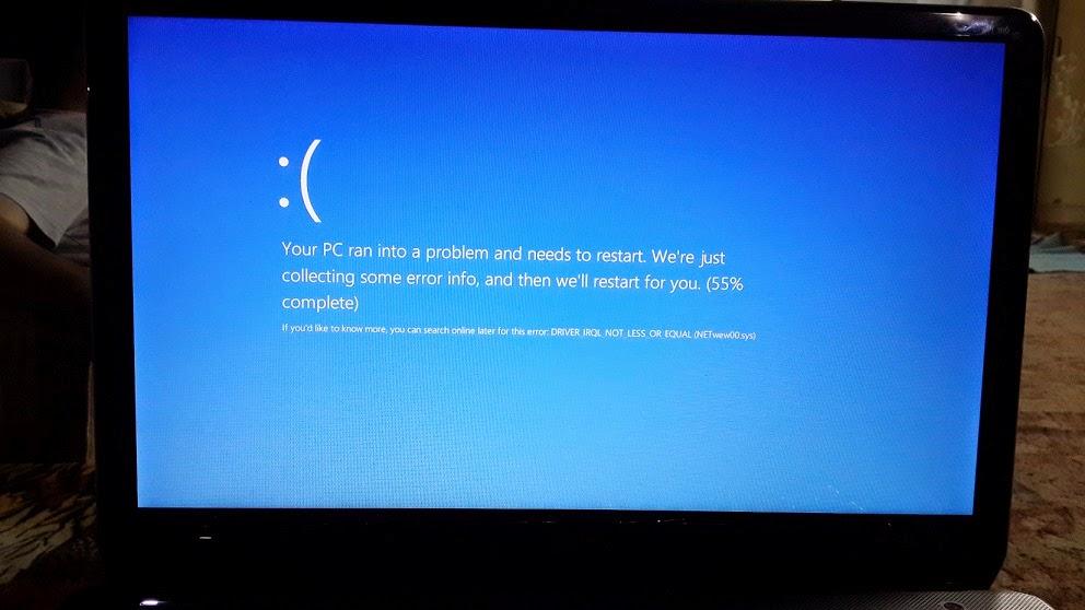 مشكلة الشاشة الزرقاء في ويندوز 8