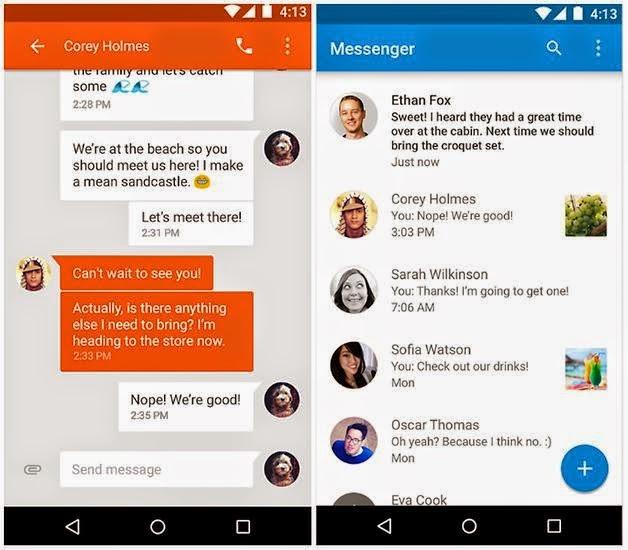 Aplikasi SMS Android Terbaik - Chomp SMS