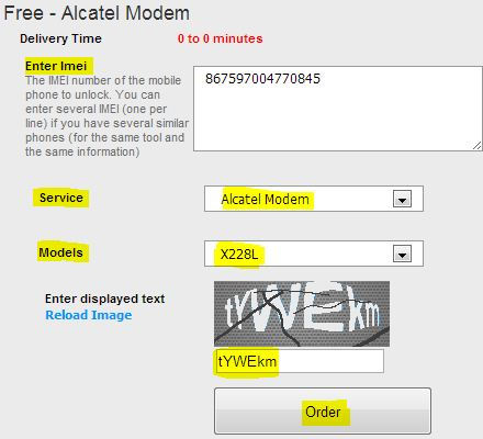 Unlock alcater stc x230l modem net setter