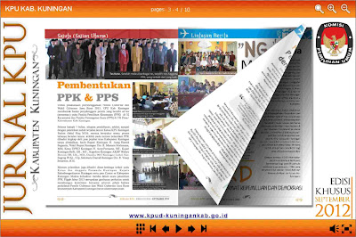 Jurnal KPU Kab. Kuningan, buletin, newsletter, majalah