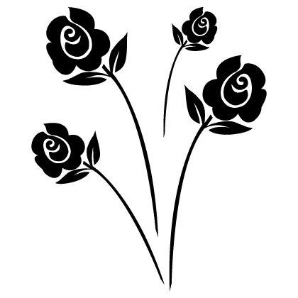 motifs fleuri pour tableaux peinture sur verre et porcelaine. Black Bedroom Furniture Sets. Home Design Ideas