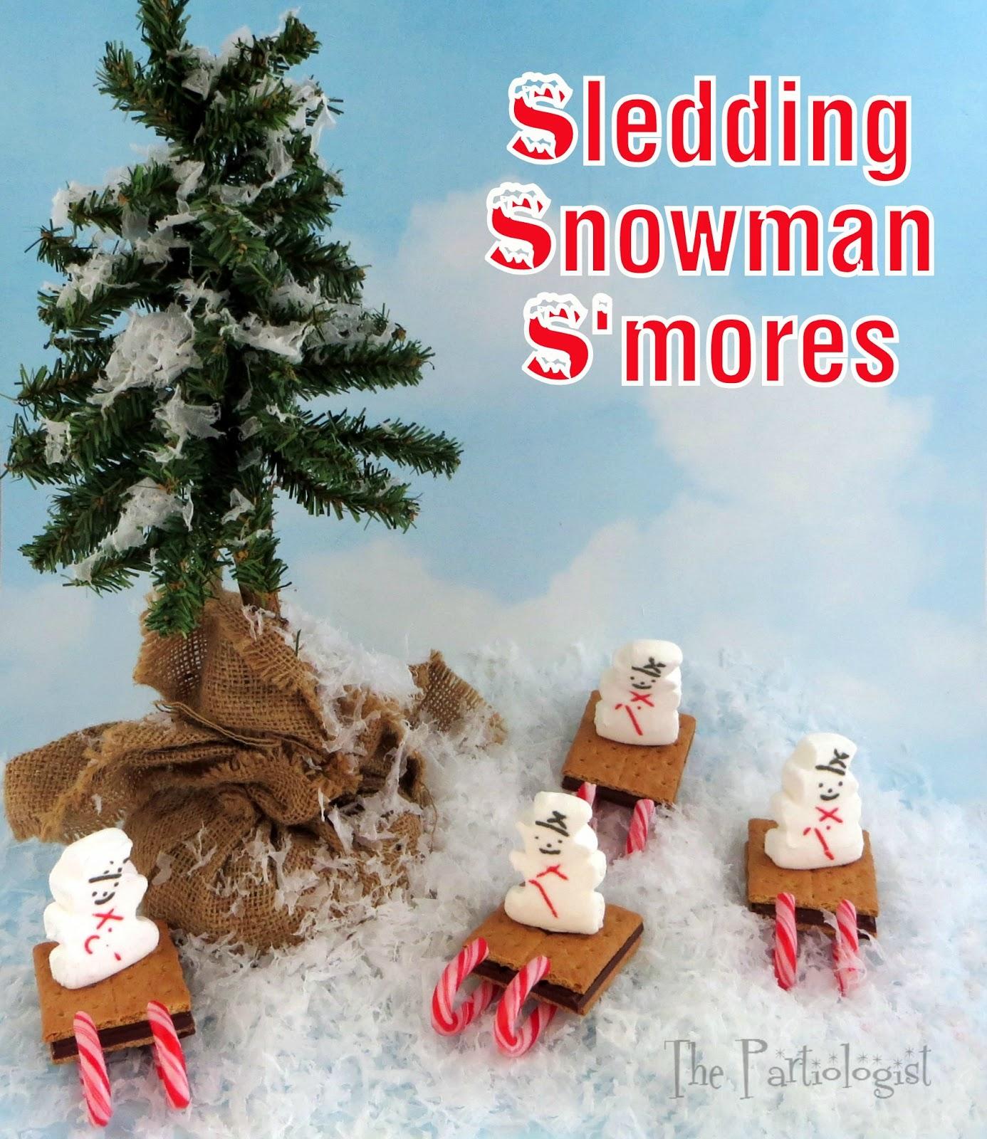 The Partiologist Sledding Snowman S mores