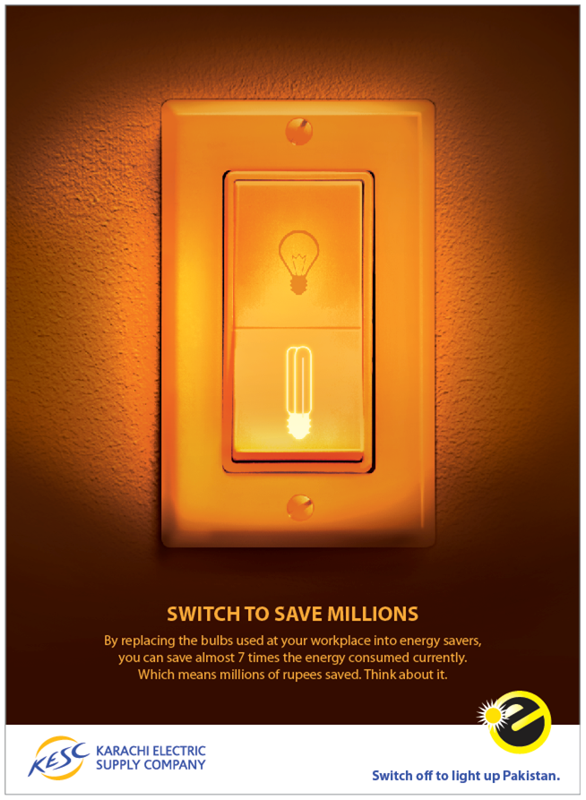 Energy Saving Campaign : Marketing frequency print ads