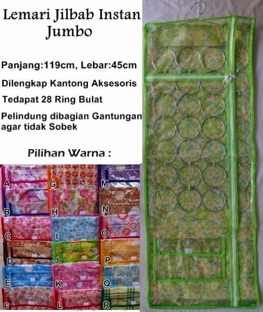 Lemari Jilbab Instan Jumbo