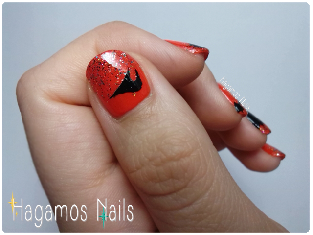 Bruja voladora #RetoHalloween Hagamos Nails