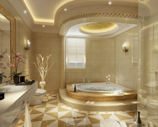 30 cool bathroom ceiling lights and other lighting ideas - Bathroom false ceiling designs ...
