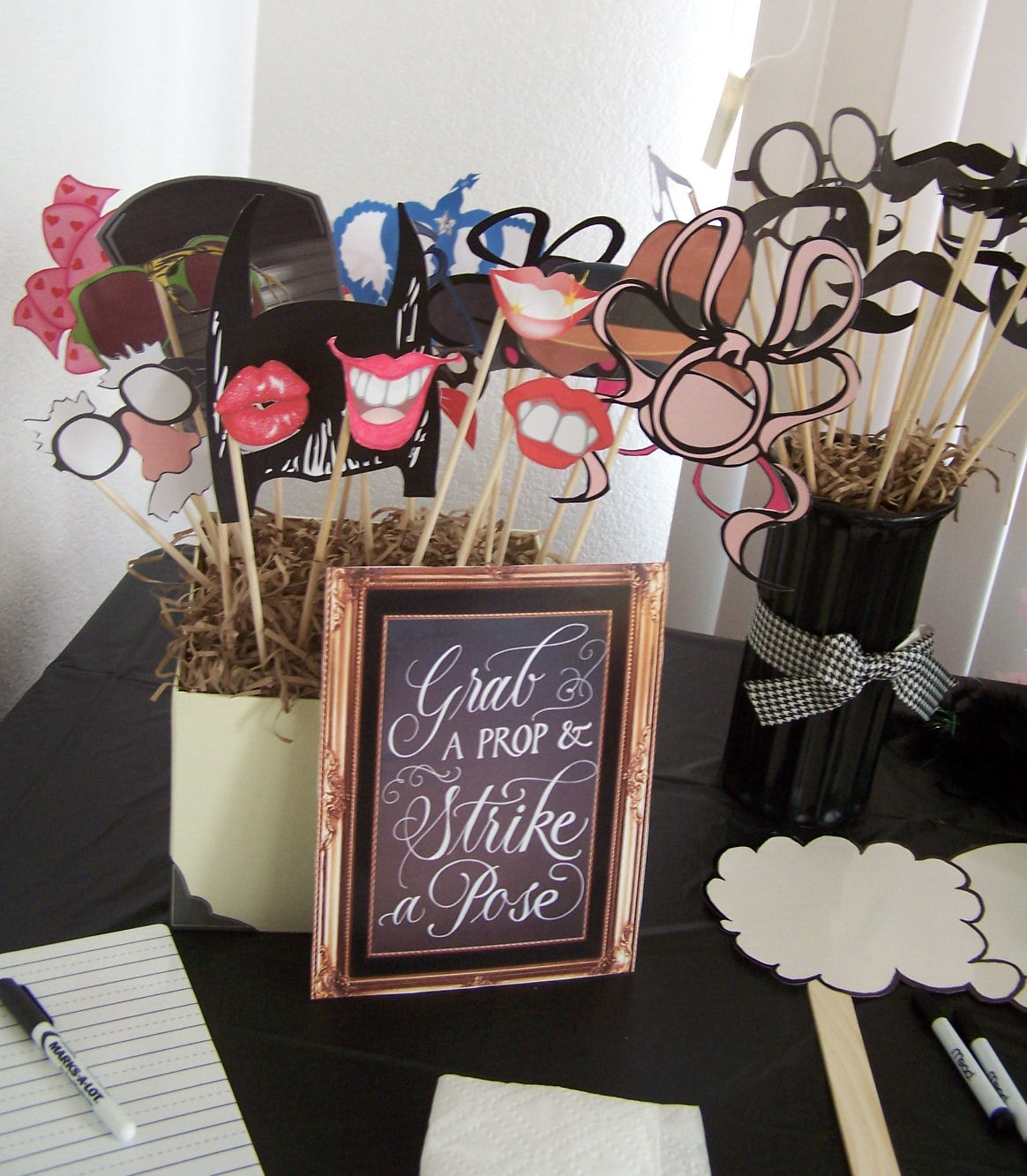 Photo Booth Prop Ideas: A Mustache Bash Baby Shower