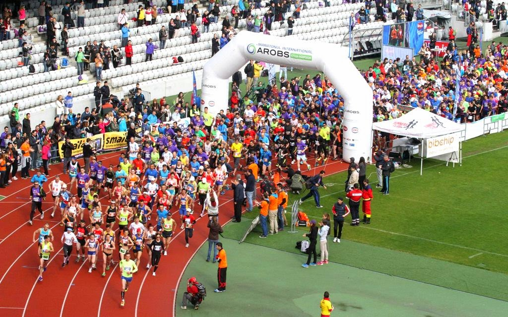 Invitaţie la Maratonul International Cluj, 19 aprilie 2015. Cluj Arena