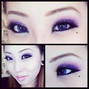 EOTD/FOTD: Halloween Purple Glitter Smokey Eye & Cat Makeup!