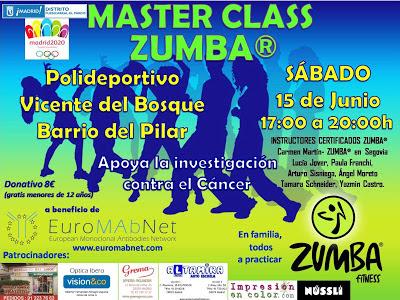 ZUMBA Segovia  evento solidario Master class EuroMAbnet
