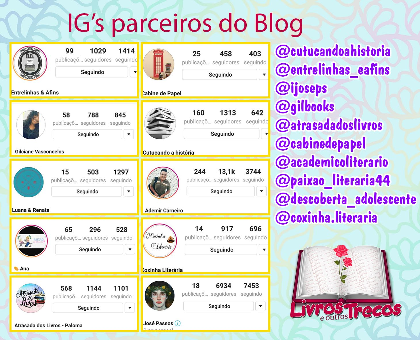 IG's parceiros do Blog ♥