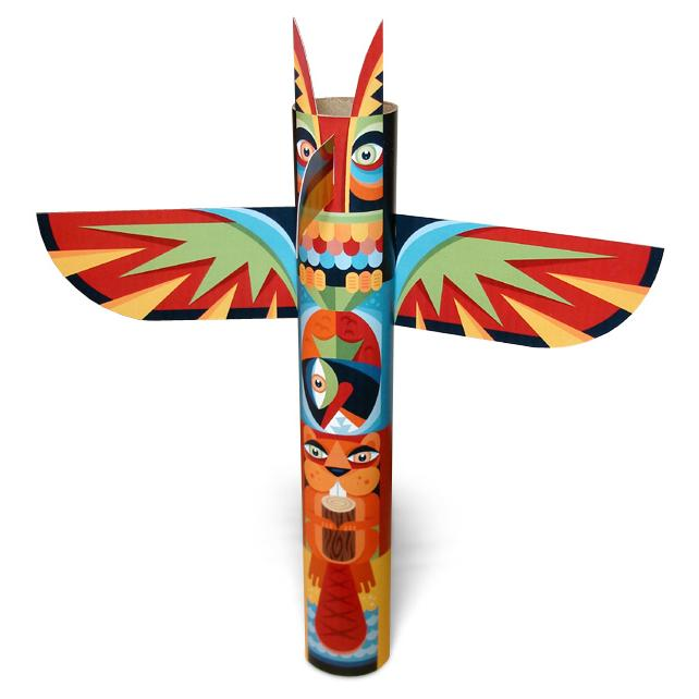 Gallery For gt Dog Totem Pole