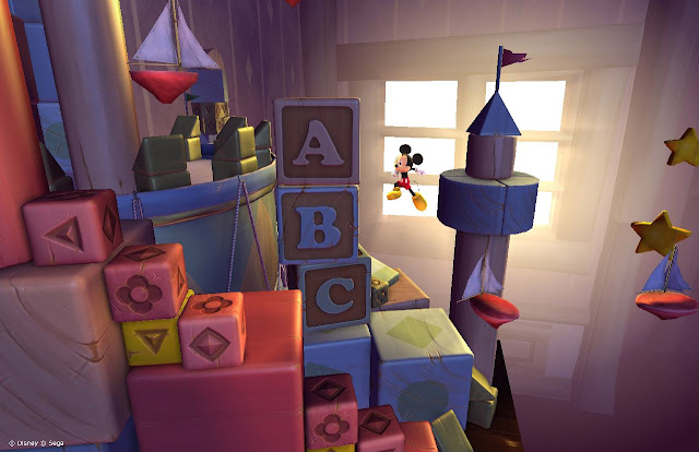Mickey jumping in HD remake of Castle of Illusion