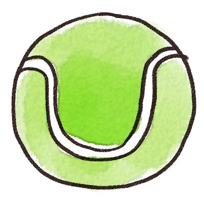 テニスボールのイラスト(スポーツ器具)