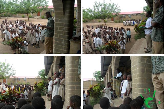 Bambini della scuola africana in Togo