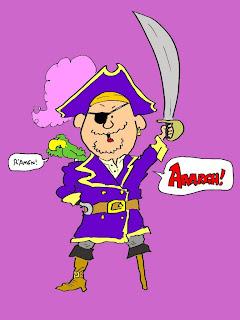 gambar kartun bajak laut