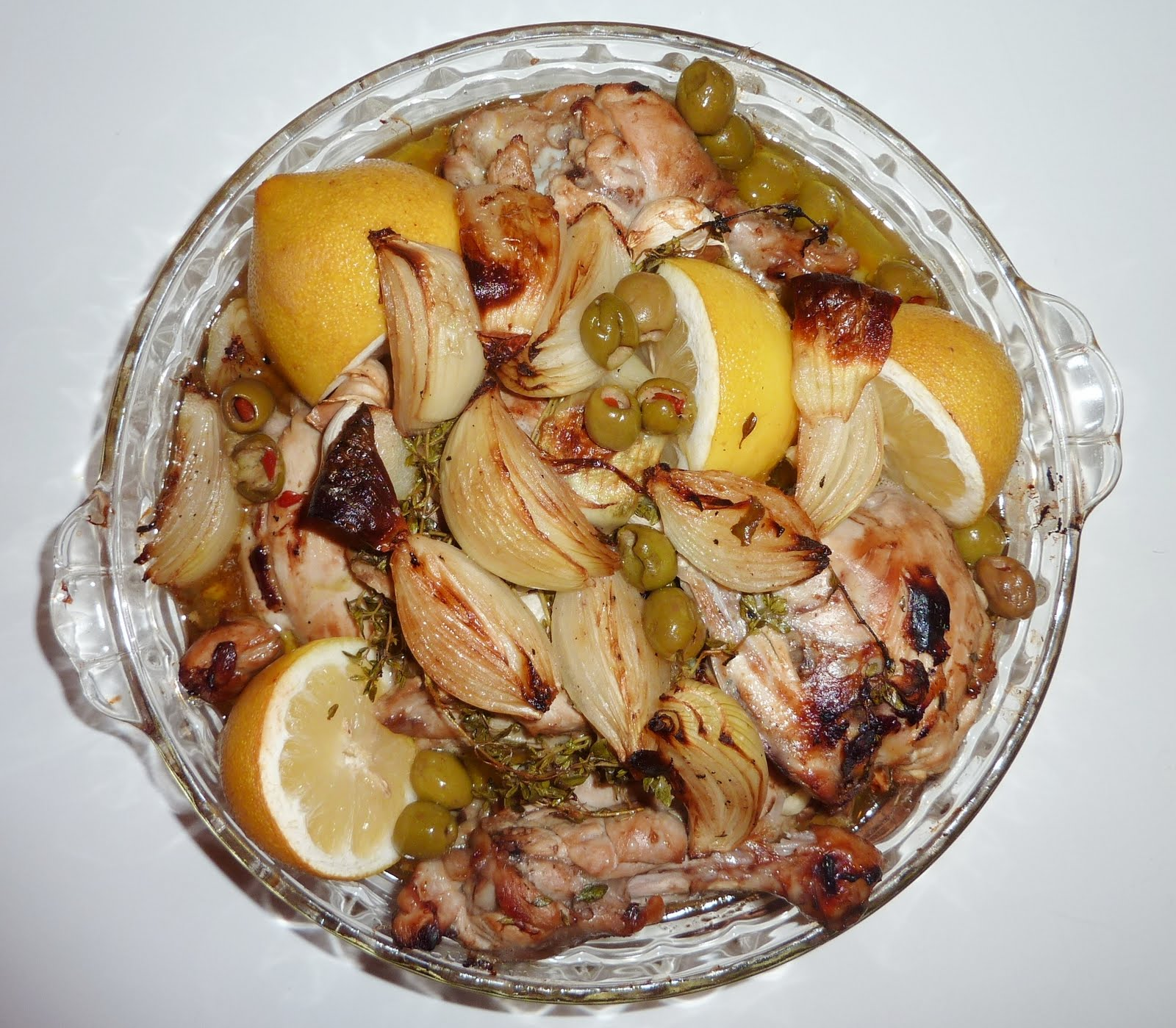 My Personal Food Journal: Fragrant Baked Lemon Olive Chicken