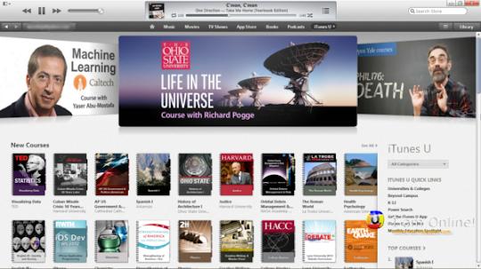 iTunes 11, iTunes Store, iTunes U