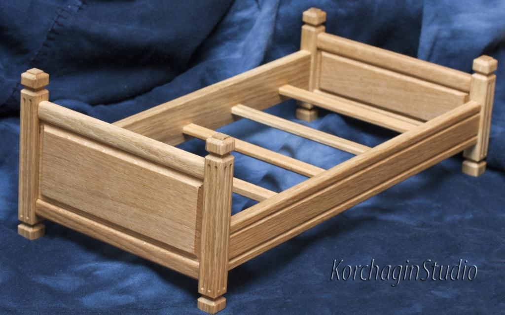 Кроватка своими руками из дерева