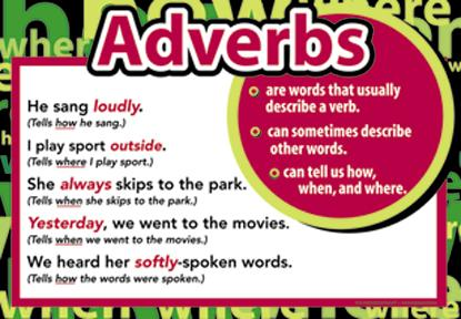 ADVERBS: WHAT IS AN ADVERB?