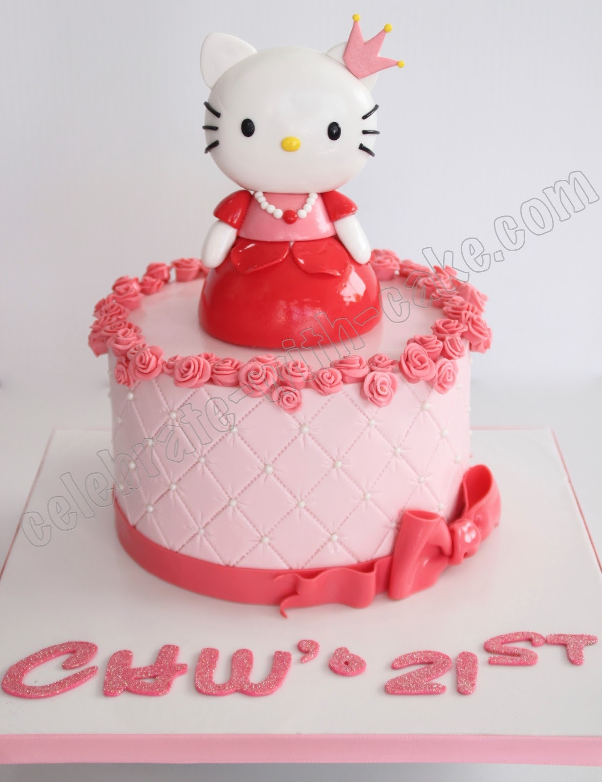Celebrate with Cake!: 21st Birthday Princess Hello Kitty Cake