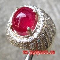 Batu Ruby Cincin Perak