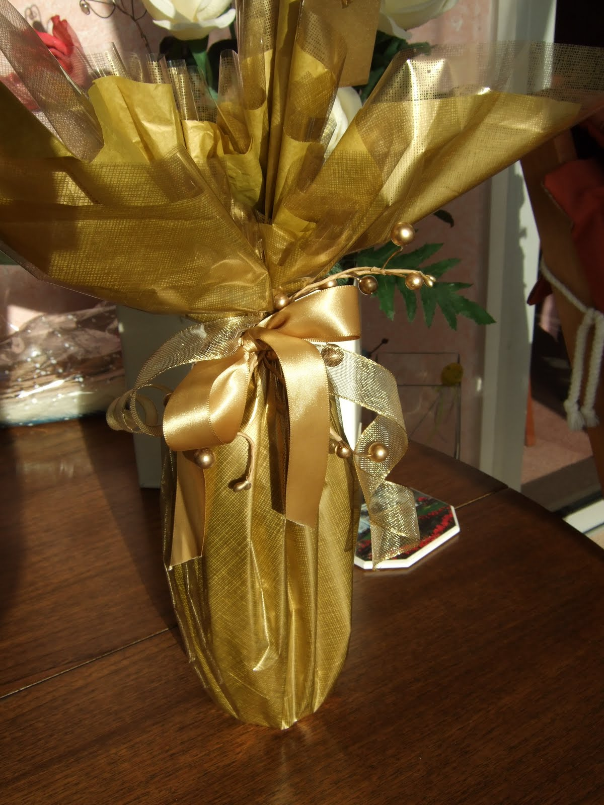 Utterly Unique By Karen Kaye Golden Wedding Gift Wrapping
