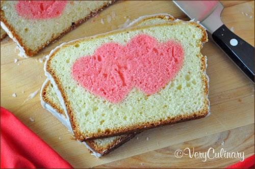 Striped Valentine's Day Cake