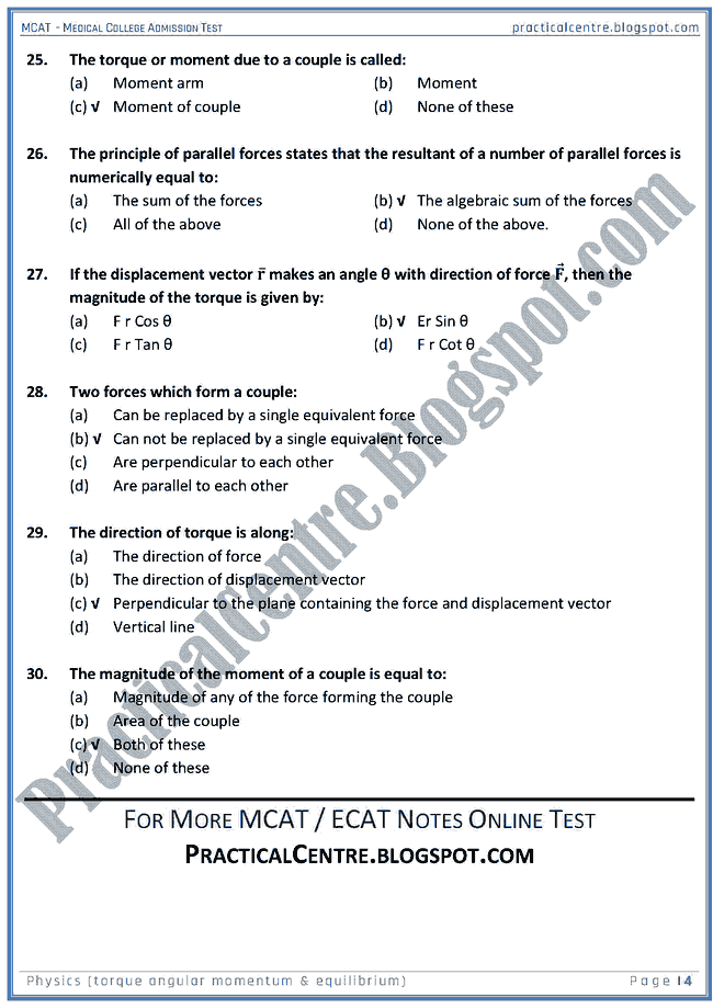 mcat-physics-torque-angular-momentum-and-equilibrium-mcqs-for-medical-college-admission-test