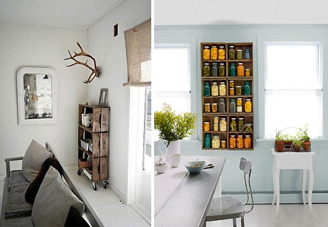 Decorar cuartos con manualidades muebles con cajas de - Manualidades con cajas de madera de frutas ...