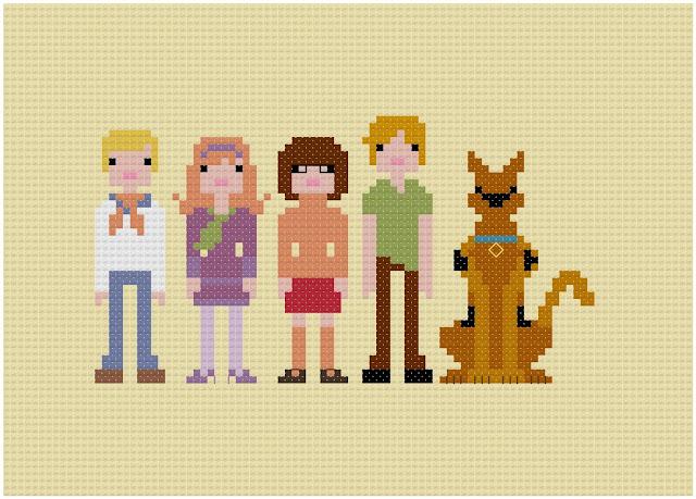Bordados em ponto cruz: Scooby-Doo