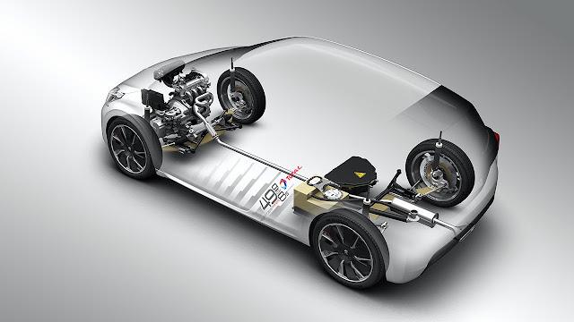 Peugeot 208 HYbrid Fe powertrain