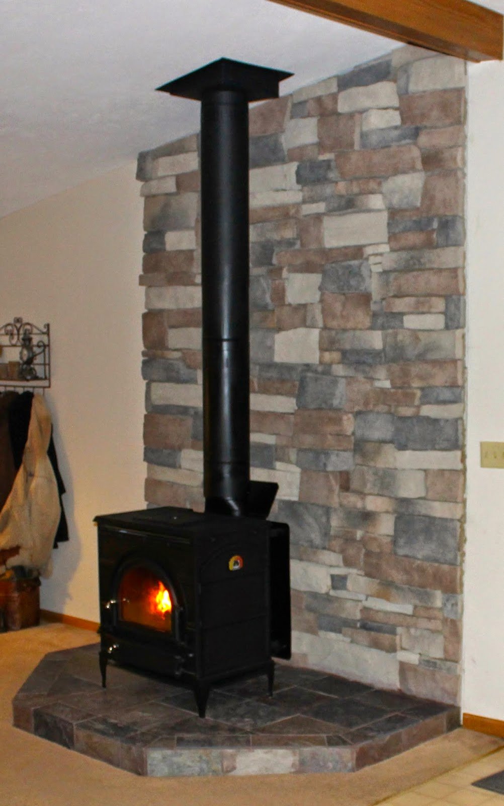 all the joy diy hearth for a wood burning stove