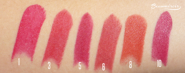 Winter beauty: my 10 favorite lipsticks - swatches