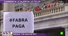 La alcaldesa de Valencia, Ritá Barberá, ha vivido la mascletá más amarga de su vida. La 'Intifalla'