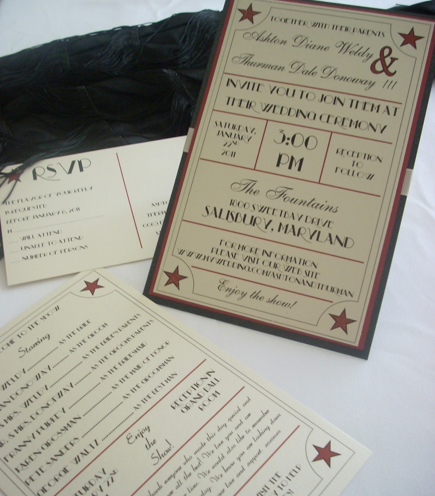 This And That Creations  Movie Theme Wedding Invitation