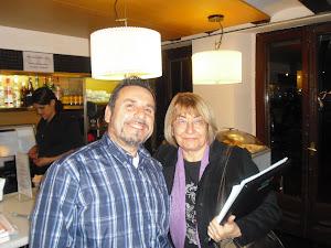Con Inma Arrabal en el Ateneo de Barcelona.
