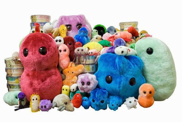 Juguetes muy extraños: microbios