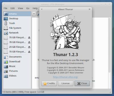 Thunar Xubuntu 12.04