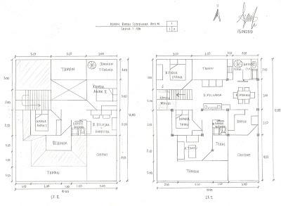 Denah Rumah Sederhana ukuran 10 x 12 m