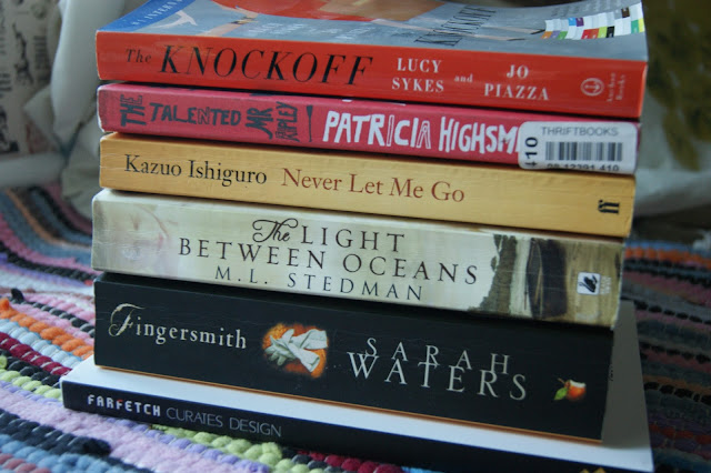 Farfetch Curates Design Book, The Knockoff, The Talented Mr Ripley, The Light Between Oceans, Never Let Me Go, Fingersmith books, reading, relaxing  (2)