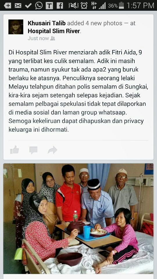 Update | Kes Penculikan | Behrang | Shaklee | Sg. Buloh | Selangor
