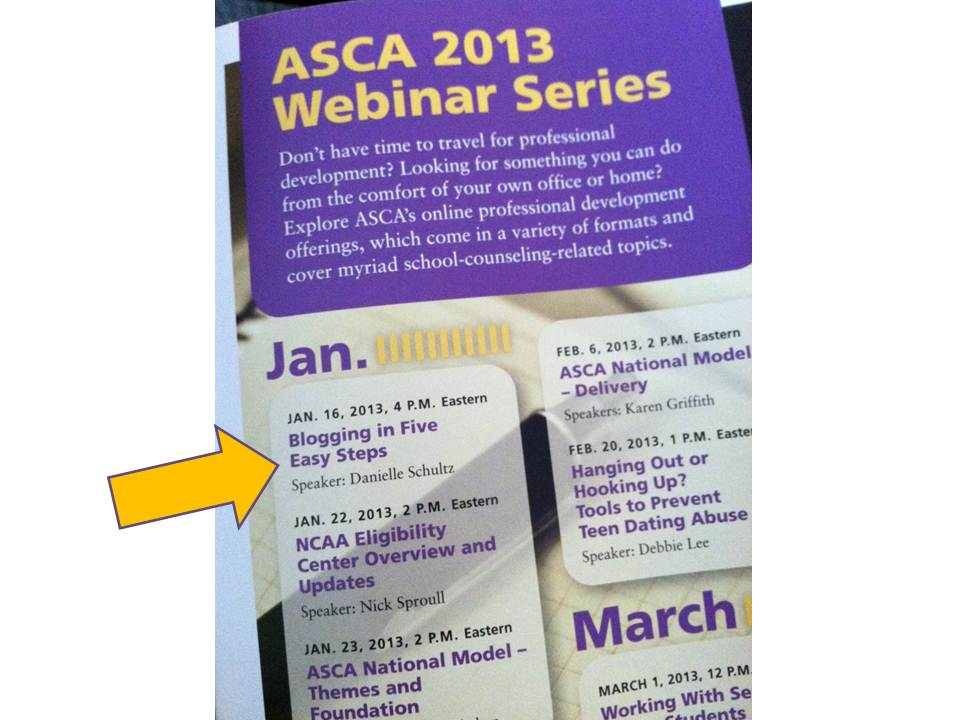 Free Webinar December 16th Developing >> School Counselor Blog I M Hosting An Asca Webinar Blogging In