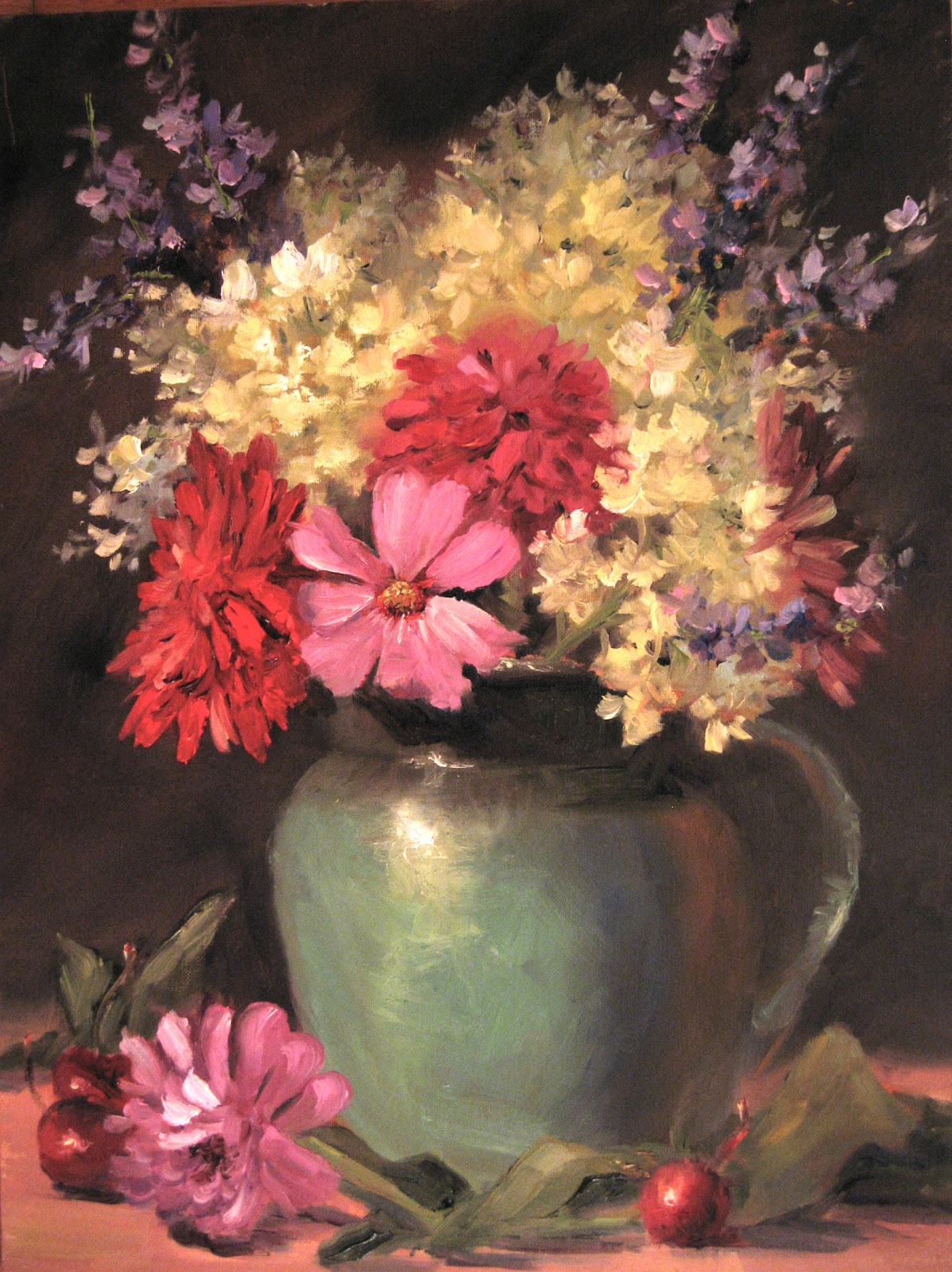 pat fiorello art elevates life learn to paint flowers in oil