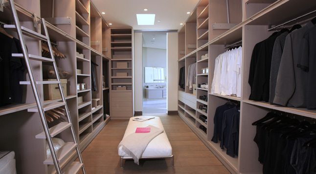 Photo of modern walk in closet