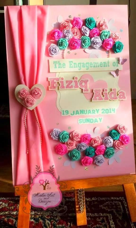 guestbook murah bewarna pink 3D
