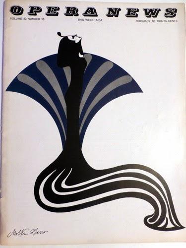 Opera News, 1966,  Milton Glaser, suzannecoleyblog