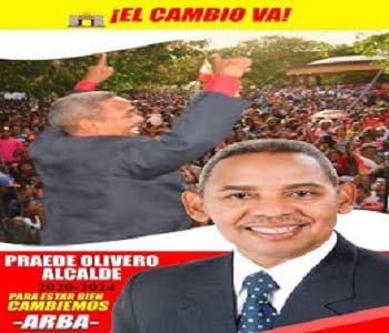 PRAEDE OLIVERO FELIZ, candidato a síndico del ARBA y Organizaciones Aliadas Santa Cruz de Barahona