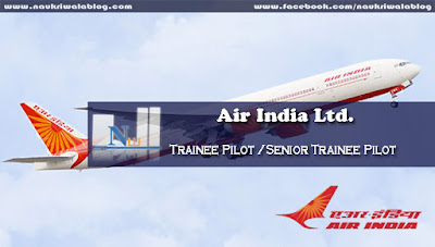 Trainee Pilot /Senior Trainee Pilot Job 2015