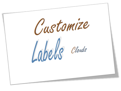 Customize Labels Cloud in Blogger With Awesome Designs